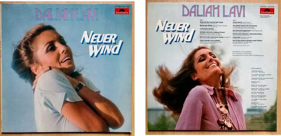 Schallplatte, LP, mit Daliah Lavi mit dem Titel Neuer Wind.