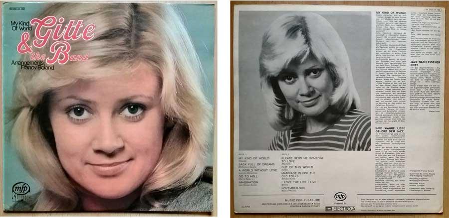 Schallplatte, Album von Gitte & the Band