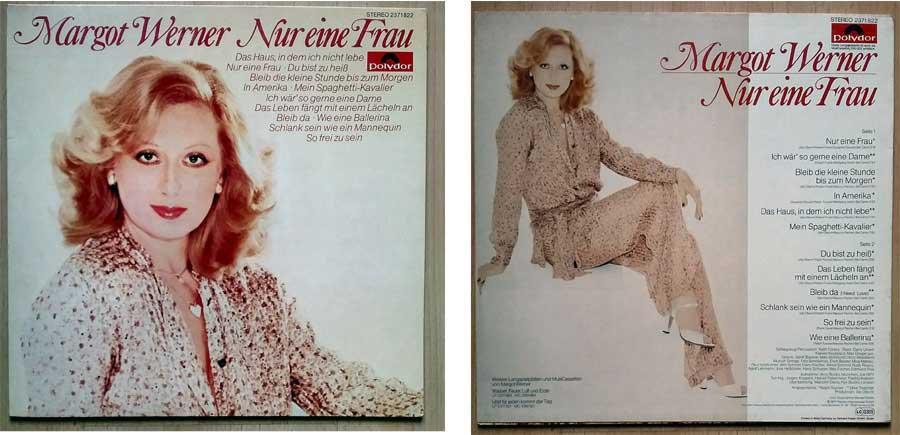 Schallplatte mit Margot Werner