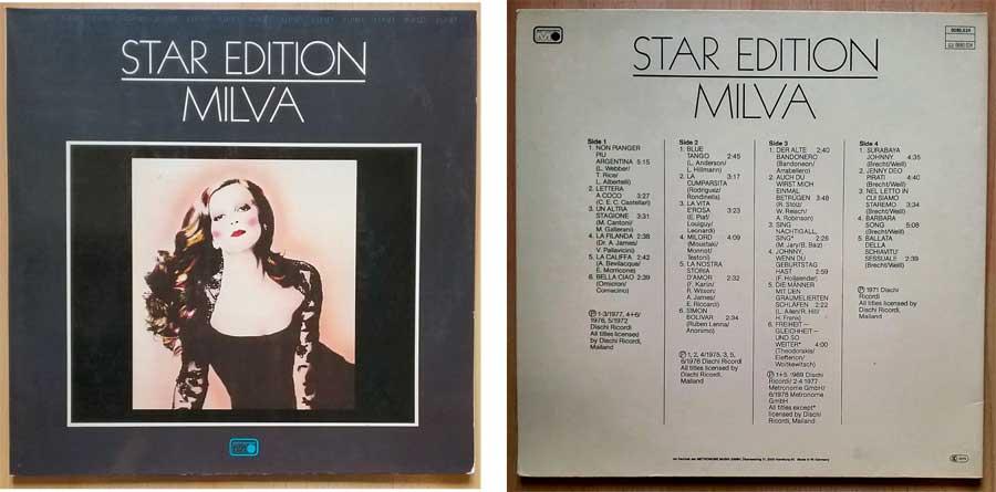 Doppel-LP mit Milva, die Star Edition