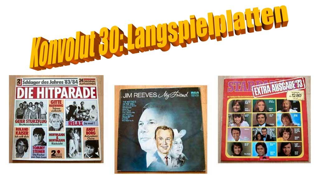 Starparade und Hitparade auf Langspielplatten