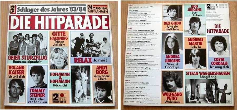 Die Hitparade - Schlager des Jahres '83/'84 - Doppel-LP