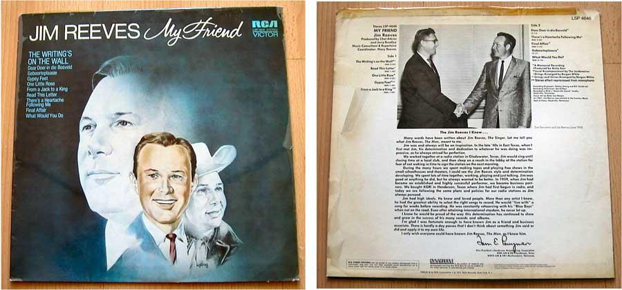 Jim Reeves - My Friend - LP Vinyl von 1972