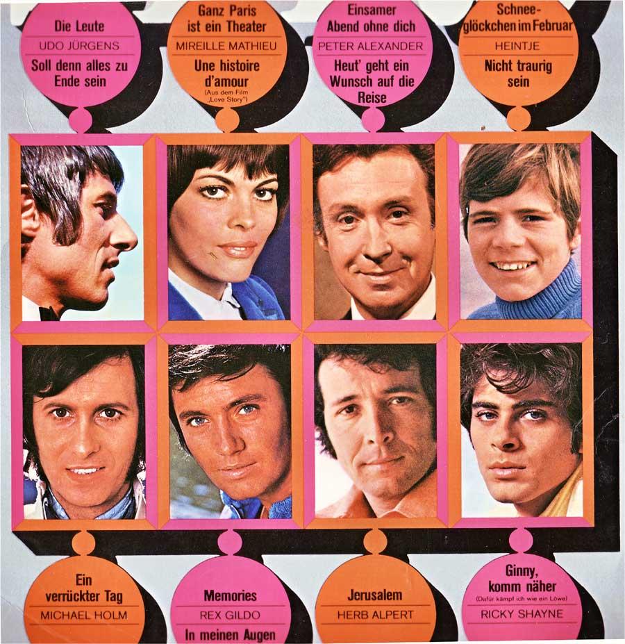 Stars der 70er Jahre Abbildung mit Fotos