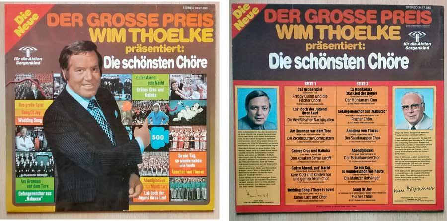 Chöre mit Wim Thoelke auf Schallplatten