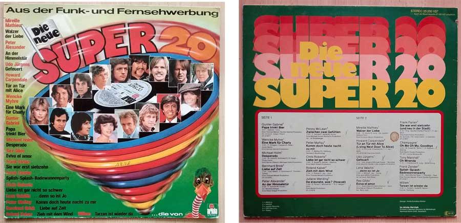 Kultsongs von 20 Superstars auf Langspielplatte