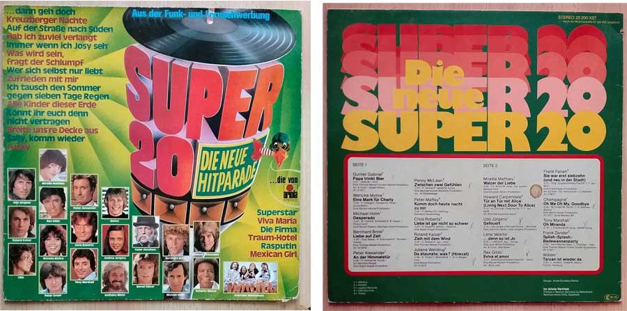 Langspielplatte mit den Super 20 Tophits von 1978