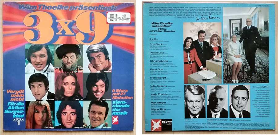 9 Stars mit 27 Melodien Schallplatten-Potpourri