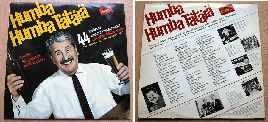 44 beliebte Stimmungsschlager mit Willy Millowitsch - LP Vinyl von 1966