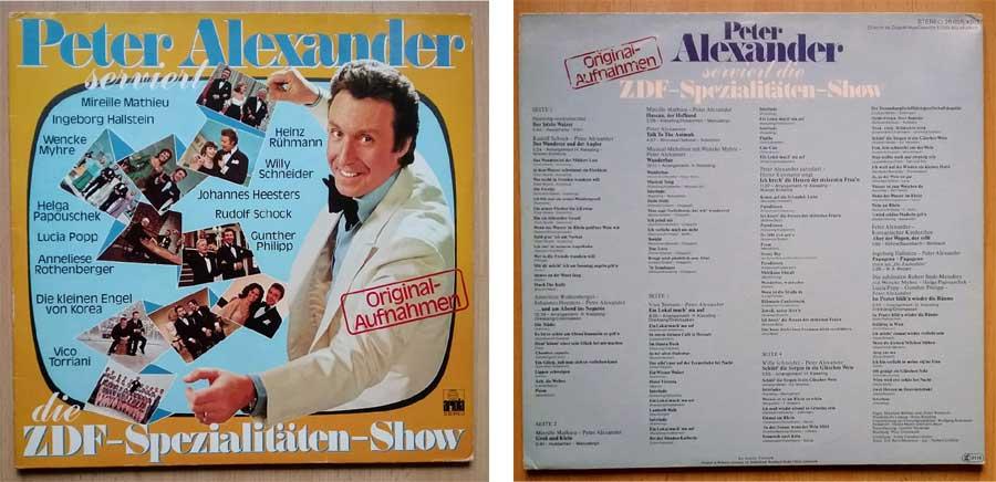 Peter Alexander, die Spezialitäten auf Schallplatte