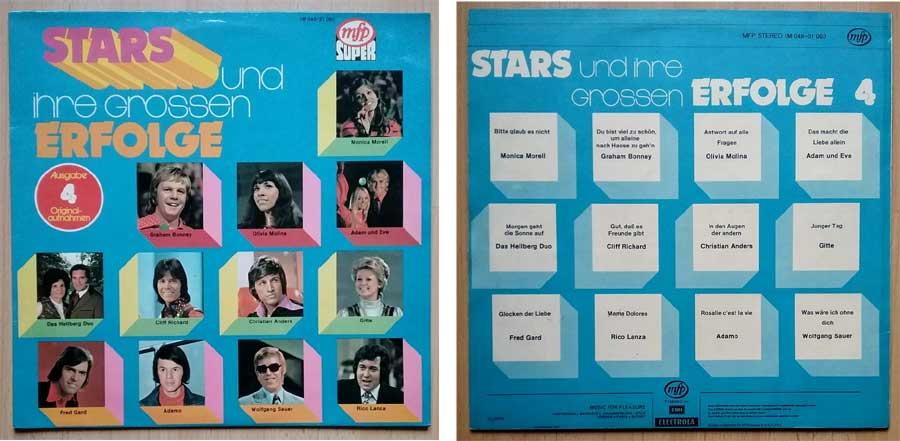 Schallplatte mit Stars und großen Erfolgen