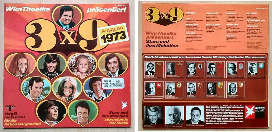 Wim Thoelke Stars und Melodien, Vinyl Brandheiss