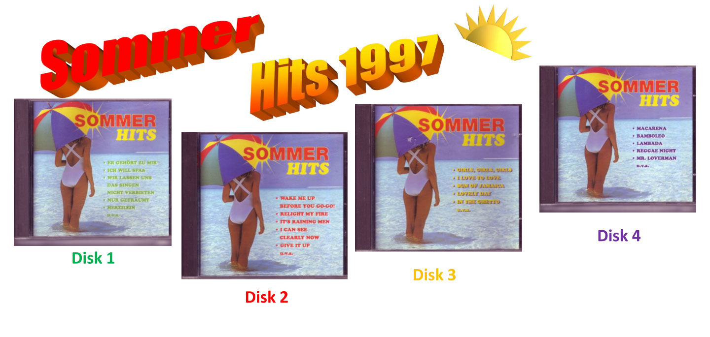 Musikrichtung Sommerhits Banner
