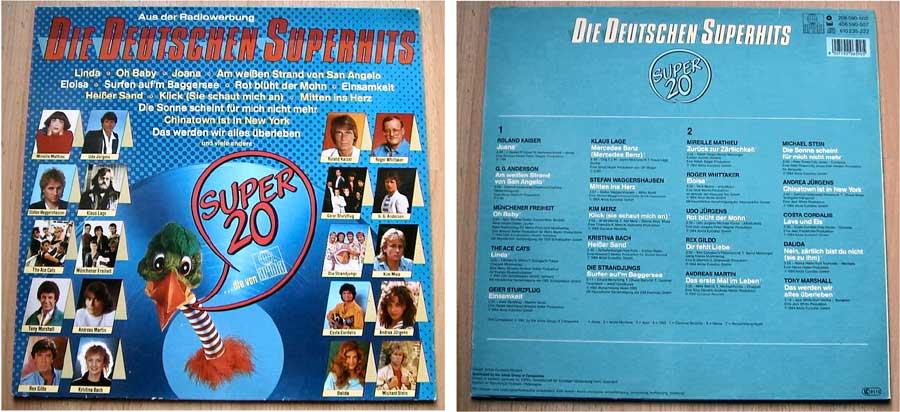 Super 20 - Die Deutschen Superhits - LP Vinyl von 1984