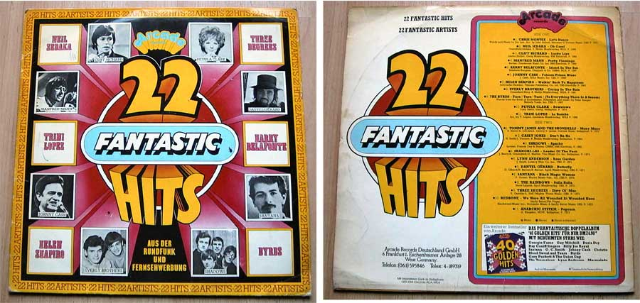 22 Fantastic Hits - 22 Fantastic Artists - LP Vinyl von 1975