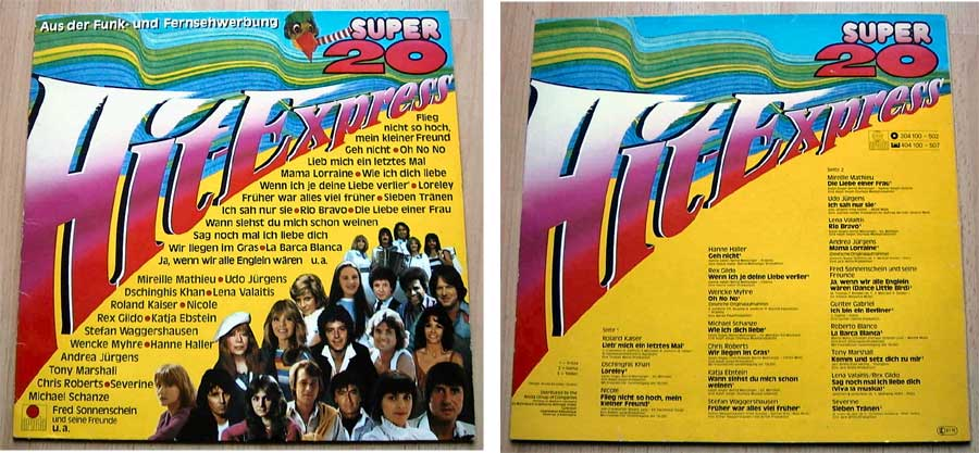 Super 20 - Hit-Express - LP Vinyl von 1981
