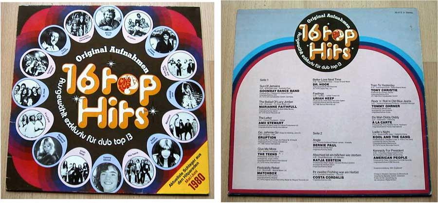 16 Top Hits - Aktuellste Schlager - LP von 1980