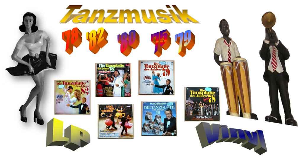Tanzplatte mit Tanzmusik - Banner der Tanzschallplatten