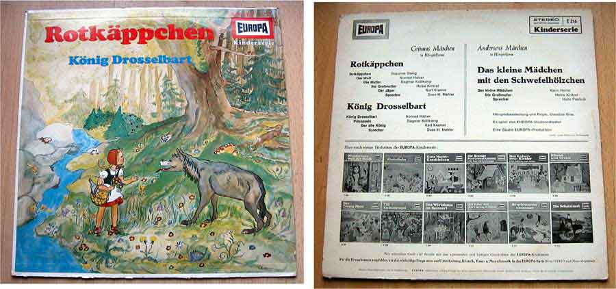 Grimms Geschichten der Europa Kinderserie auf LP Vinyl