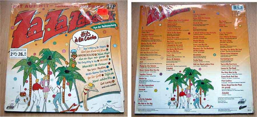 Za Za Zabadak - Hit auf Hit - Tanzen ohne Pause - Doppel-LP Vinyl von 1988