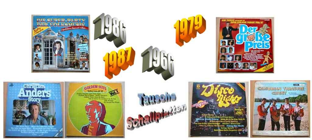 Tauschidee - Banner zum Schallplatten tauschen