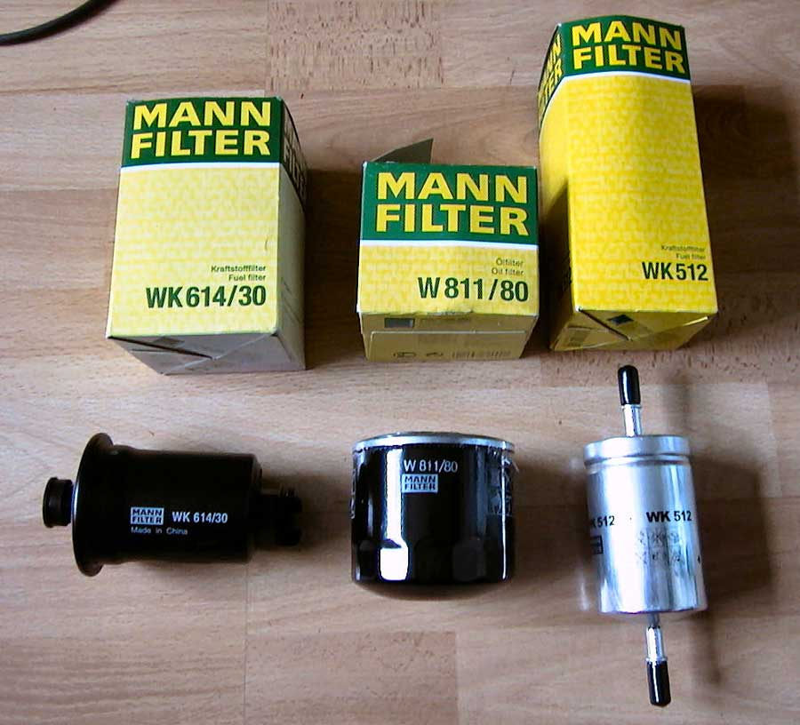 Mann Filter für verschiedene PKW, Sammelsurium