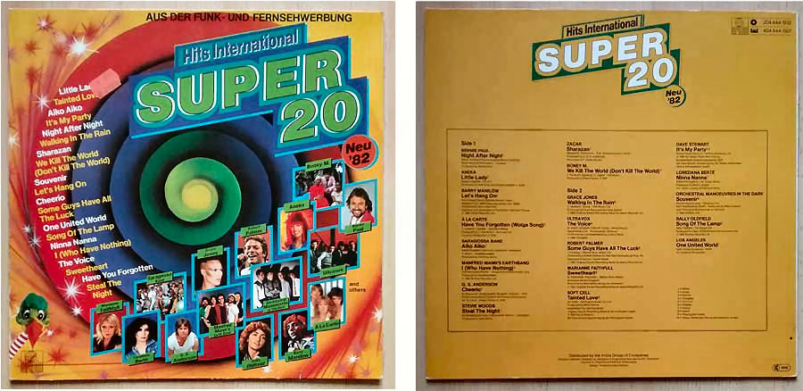 Schallplatte mit Hits international von 1982