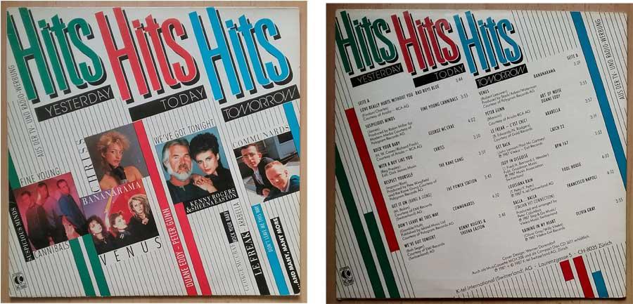 Schallplatte mit Hits aus den 1980ern