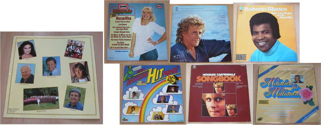 Vinyl, Deutsche Interpreten, Schlager
