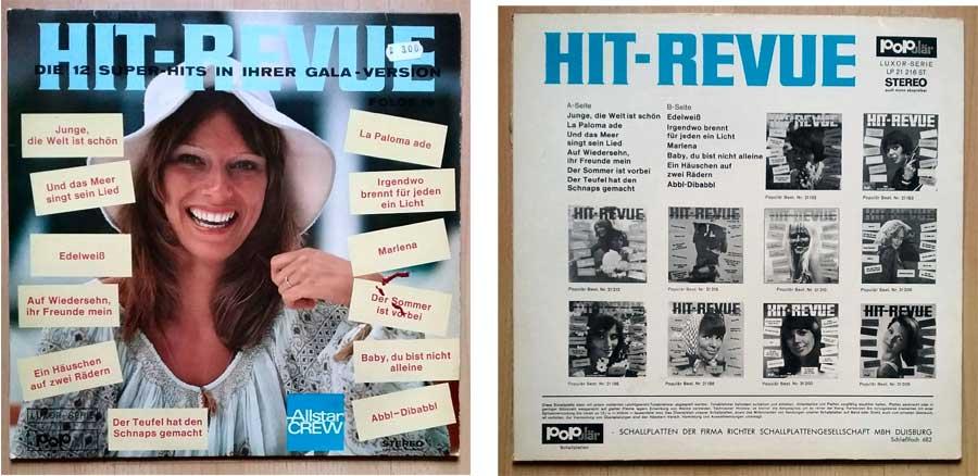 Schallplatte mit 12 Super-Hits - Gala-Version