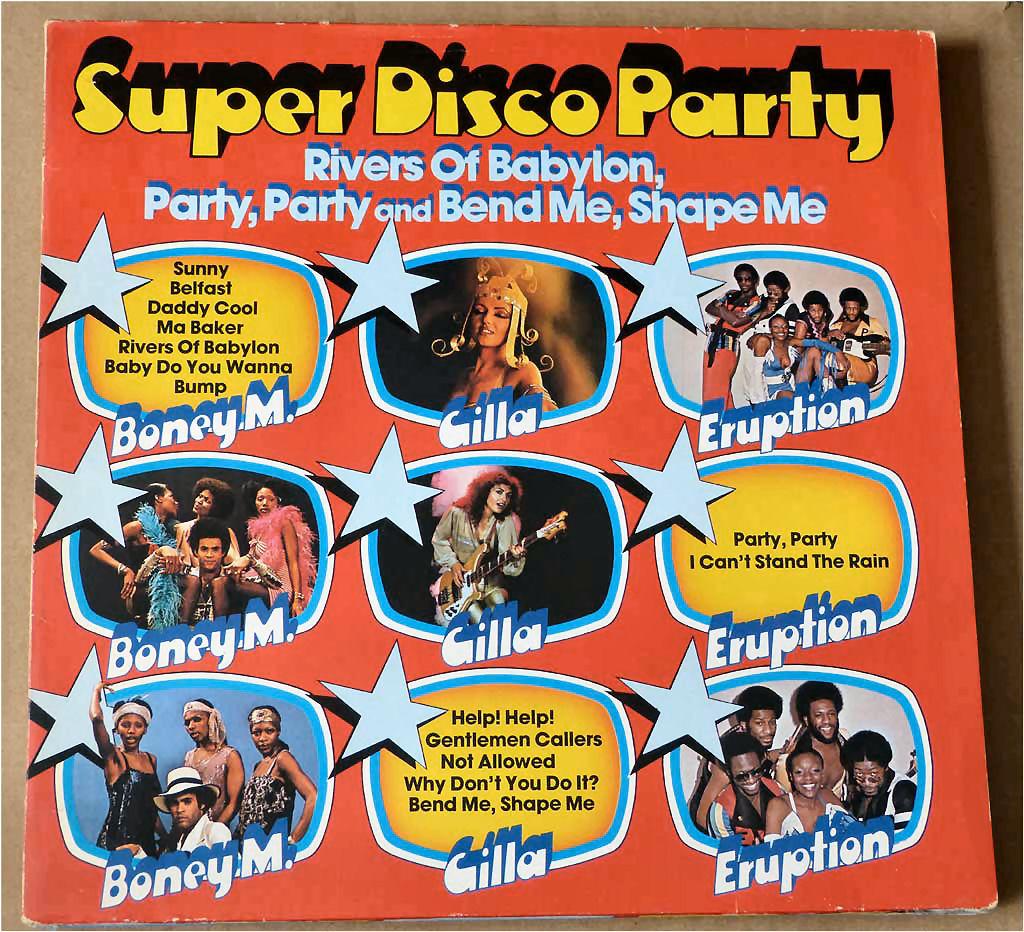 Disco Party Popgruppen auf Schallplatte