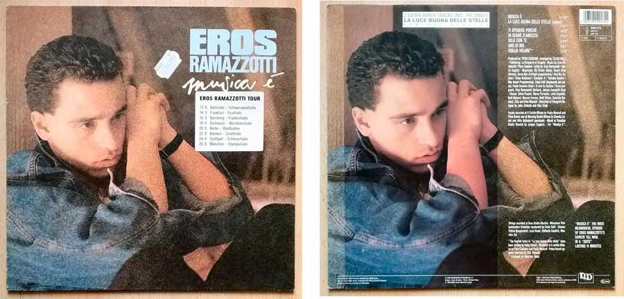 Schallplatte aus einem Garagenfund von Eros Ramazzotti