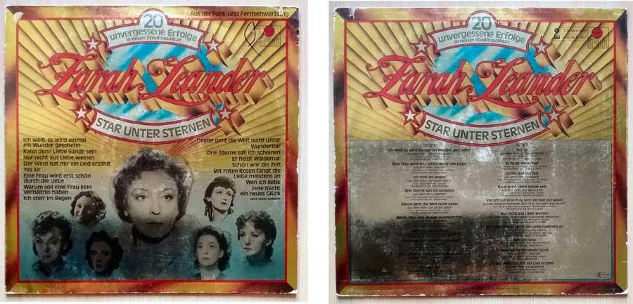 Unvergessene Erfolge von Zarah Leander auf LP