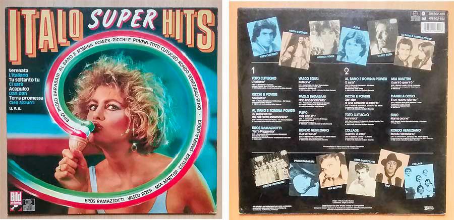 Italo Super Hits, Langspielplatte von 1984
