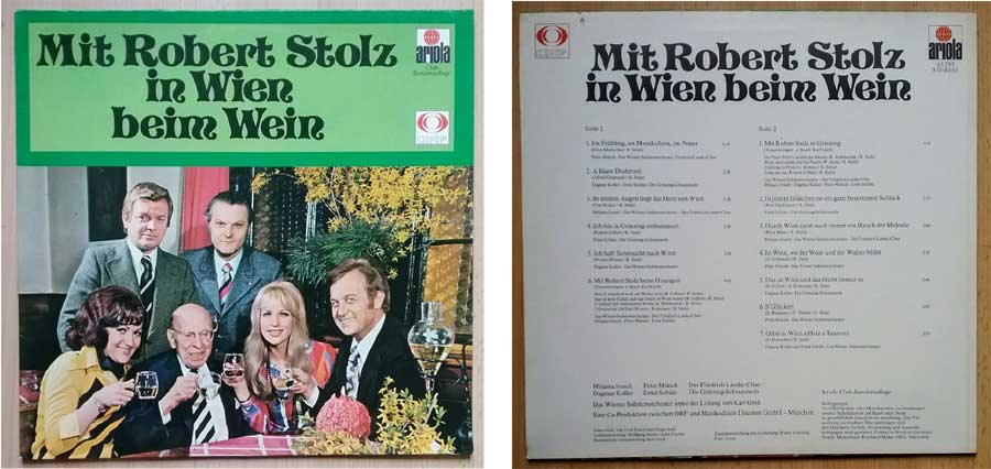 Schallplatte von Robert Stolz