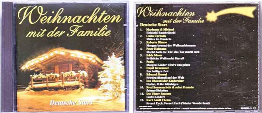 CD Weihnachten mit der Familie, Deutsche Stars