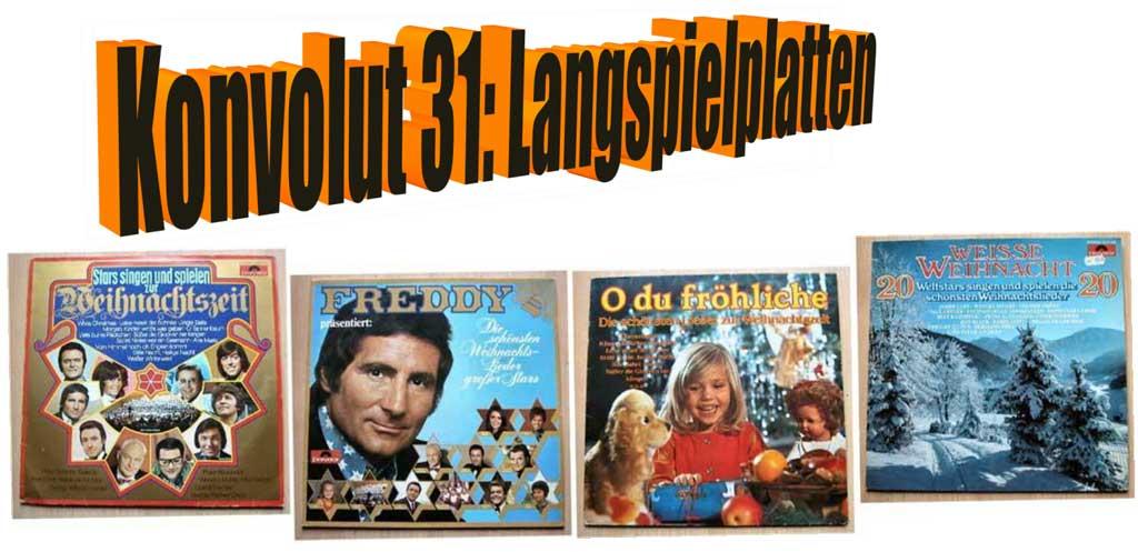 Weihnachtslieder zur Weihnachtszeit auf LP Vinyl