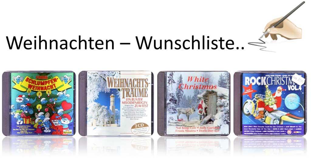Weihnachtsgeschenke - Wunschliste - Banner