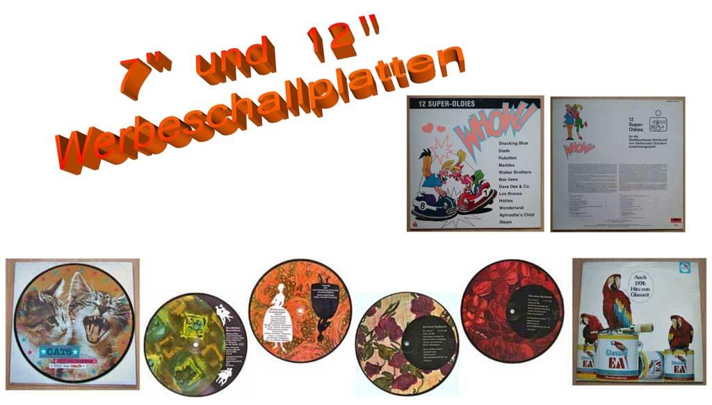 Werbeschallplatten Musikgeschichte mit Werbung auf Schallplatte
