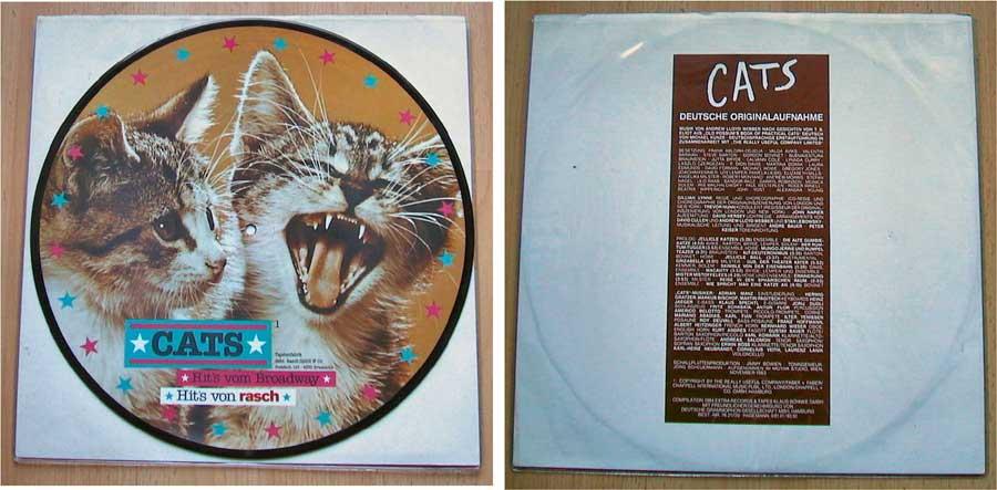 Werbeschallplatte mit Lied- und Songtexten der CATS 1983