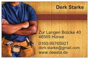 Visitenkarte von Derk Starke