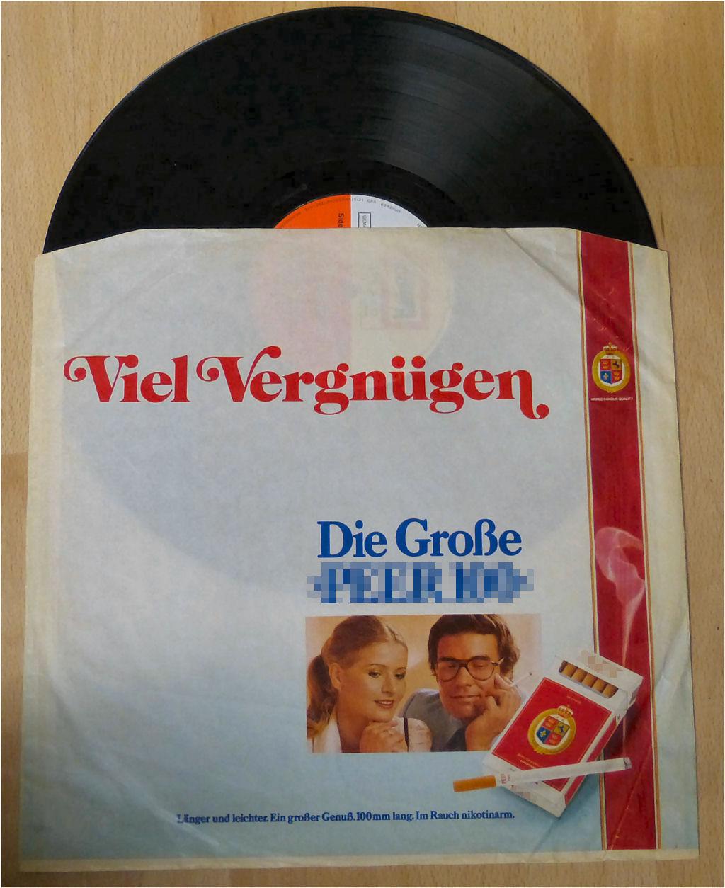 Schallplatten Zigaretten Werbung